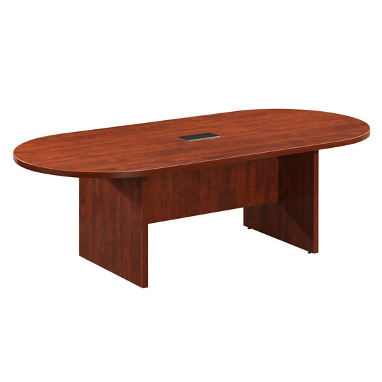 OfficeSource OS Conference Tables Racetrack Conference Table with Slab Base