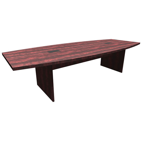 OfficeSource OS Conference Tables Boat Shaped Conference Table with Slab Base