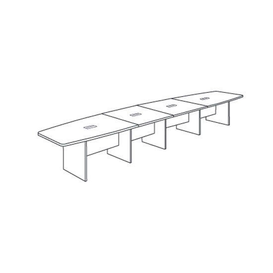 Conference OfficeSource Furniture - Boat shaped conference table dimensions