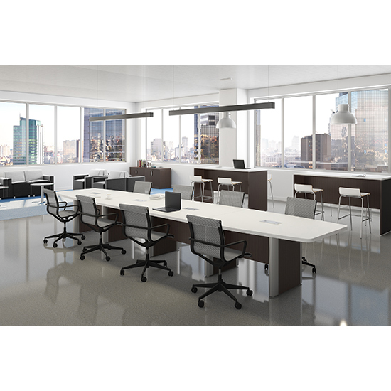 Racetrack Conference Table With Elliptical Base OfficeSource Furniture - Elliptical conference table