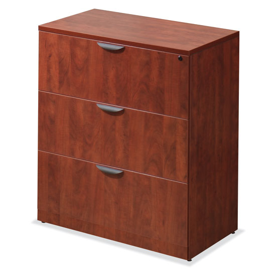 OfficeSource OS Laminate Lateral Files 3 Drawer Lateral File Cabinet