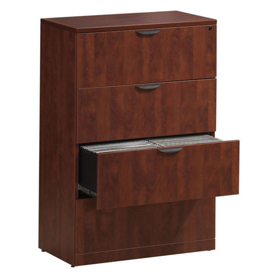 OfficeSource OS Laminate Lateral Files 4 Drawer Lateral File Cabinet