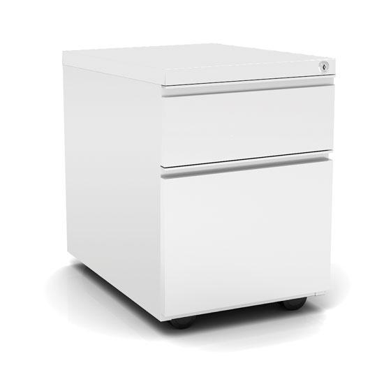 2 Drawer Metal File And Box Pedestal 22 D