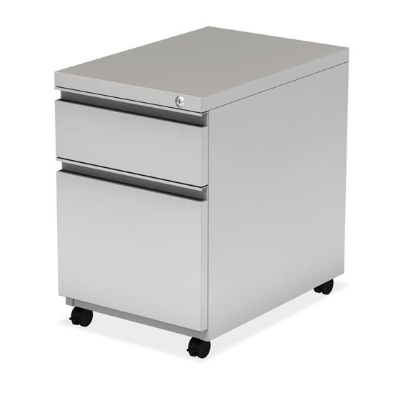"2 Drawer Metal File and Box Pedestal – 22""D"
