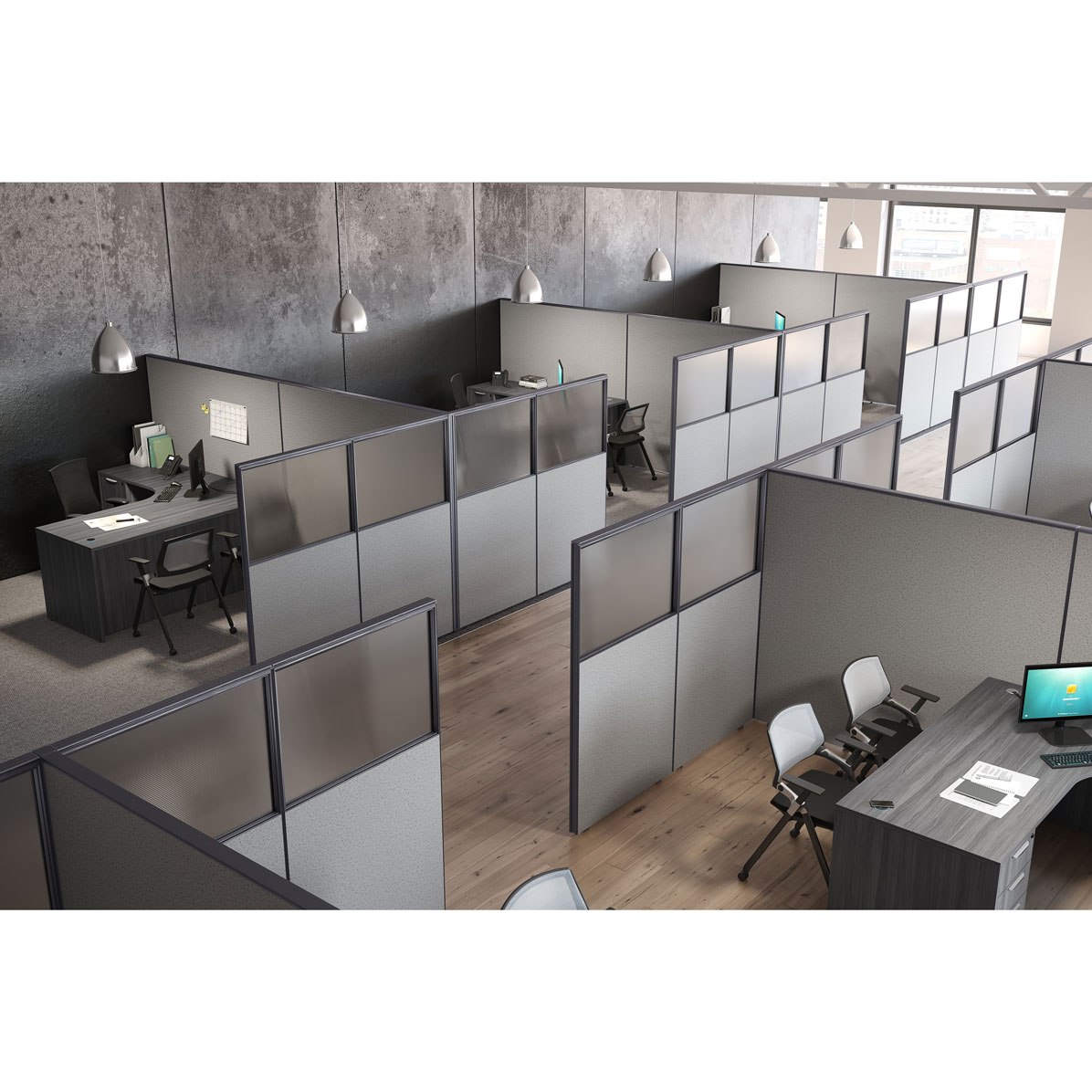 OfficeSource OS Panels Complete Package 8 – As Shown with Desks