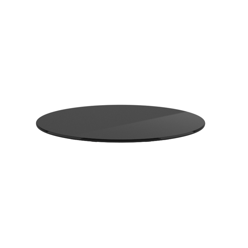 "OfficeSource OS Reception Tables 18"" Round Glass Top"