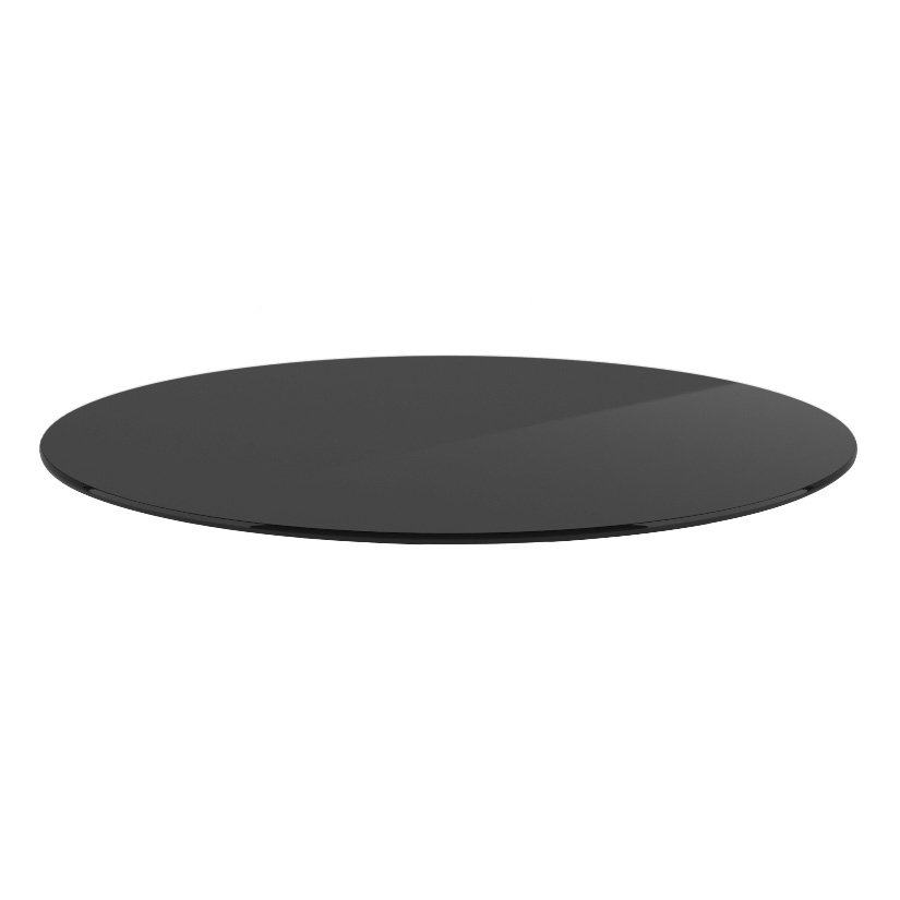 "OfficeSource OS Reception Tables 24"" Round Glass Top – Requires Base"
