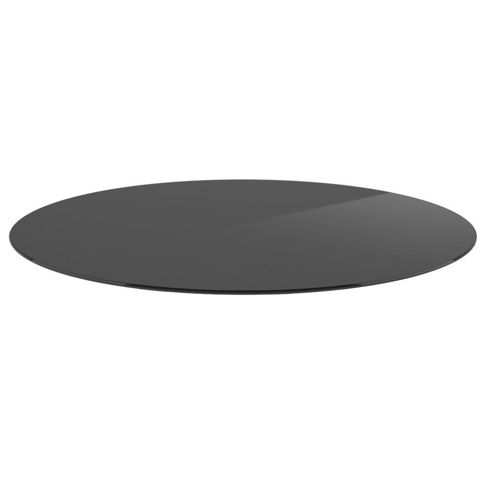 "OfficeSource OS Reception Tables 36"" Round Glass Top"