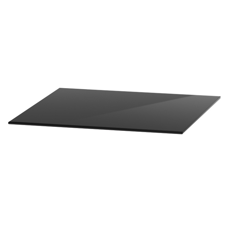 "OfficeSource OS Reception Tables 18"" Square Glass Top"