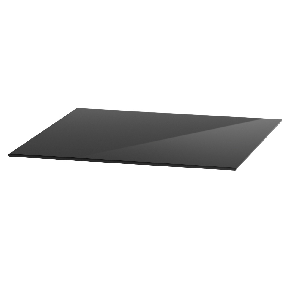 "OfficeSource OS Reception Tables 24"" Square Glass Top – Requires Base"