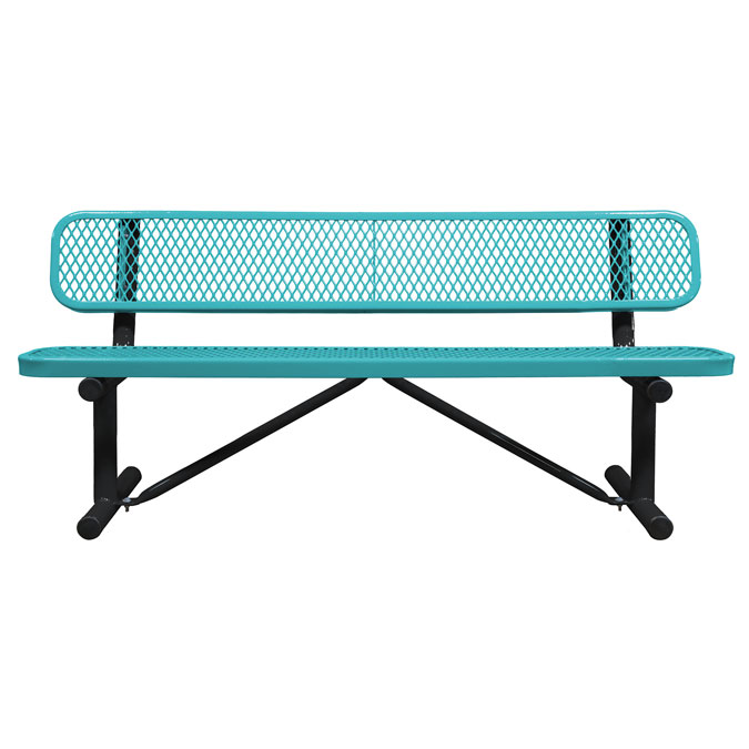 OfficeSource Park Collection 6′ Standard Expanded Bench with Back