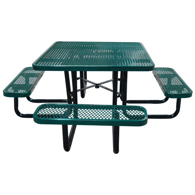 "46"" Square Expanded Metal Table"