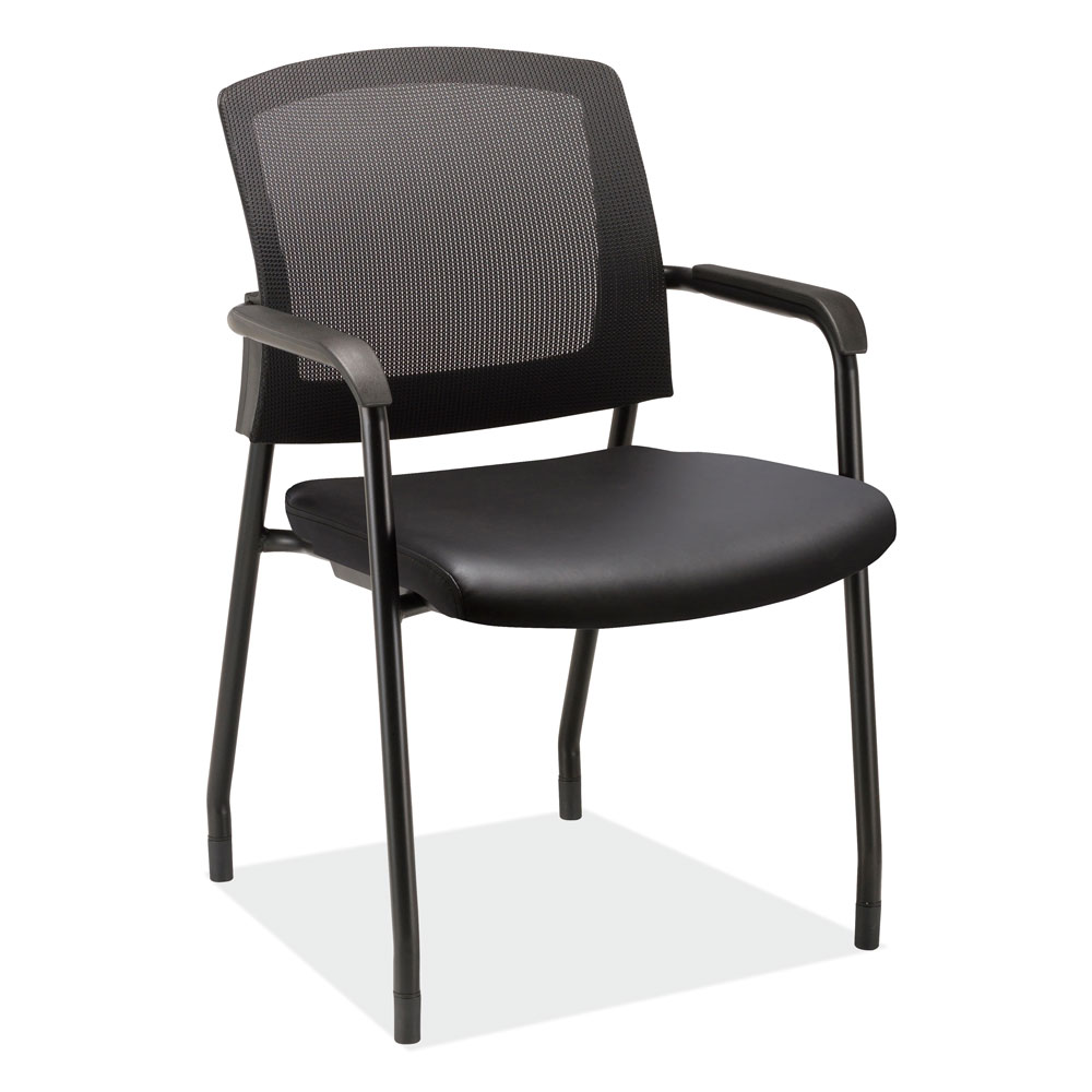 OfficeSource Parson Collection Micro Mesh Back Side Chair with Arms