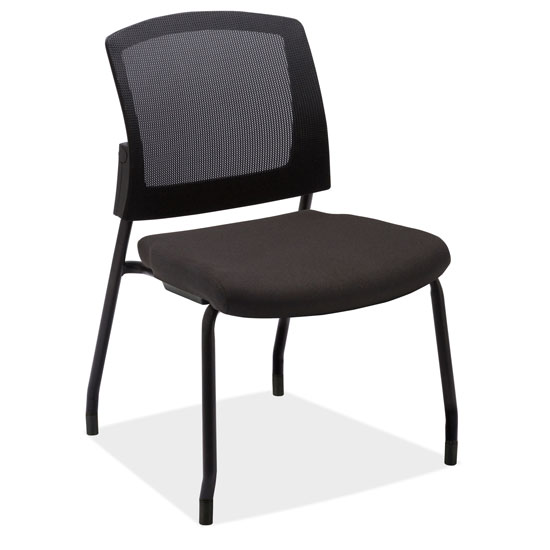 OfficeSource Parson Collection Armless Micro Mesh Back Side Chair