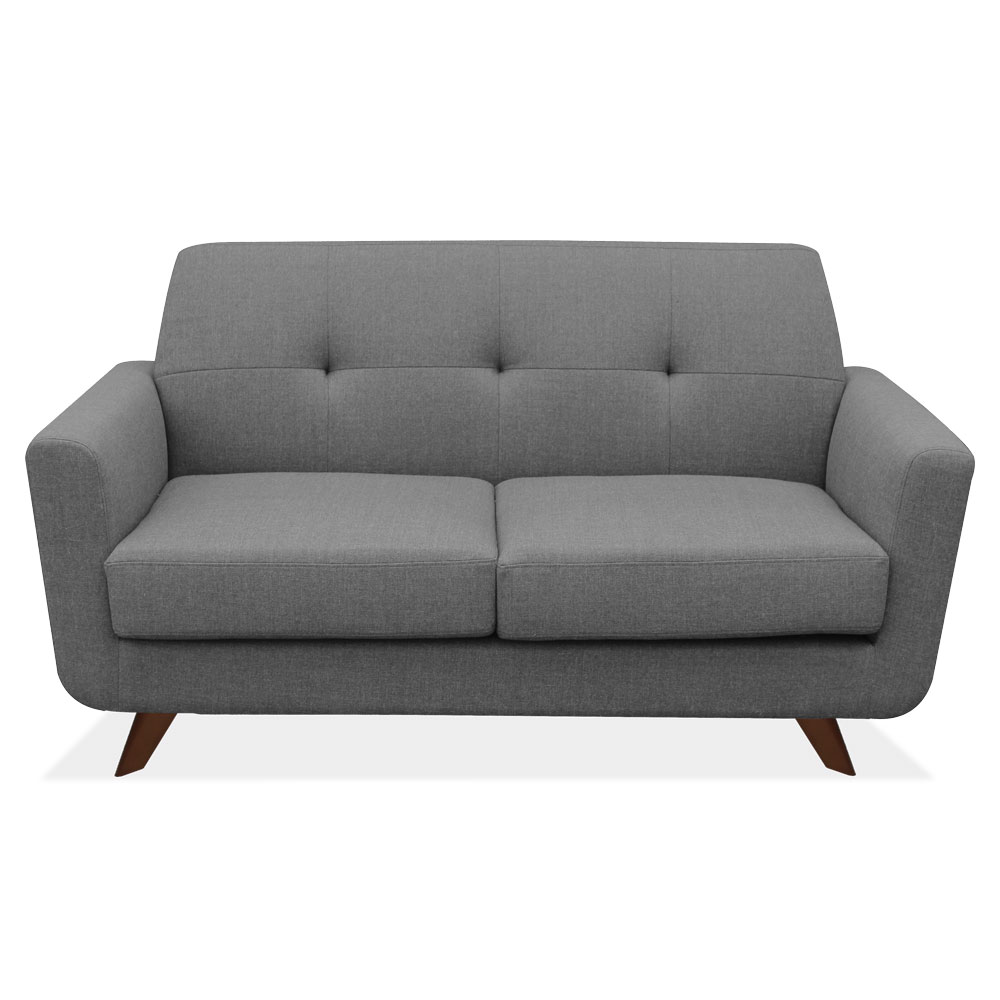 Loveseat With Dark Cherry Wood Legs