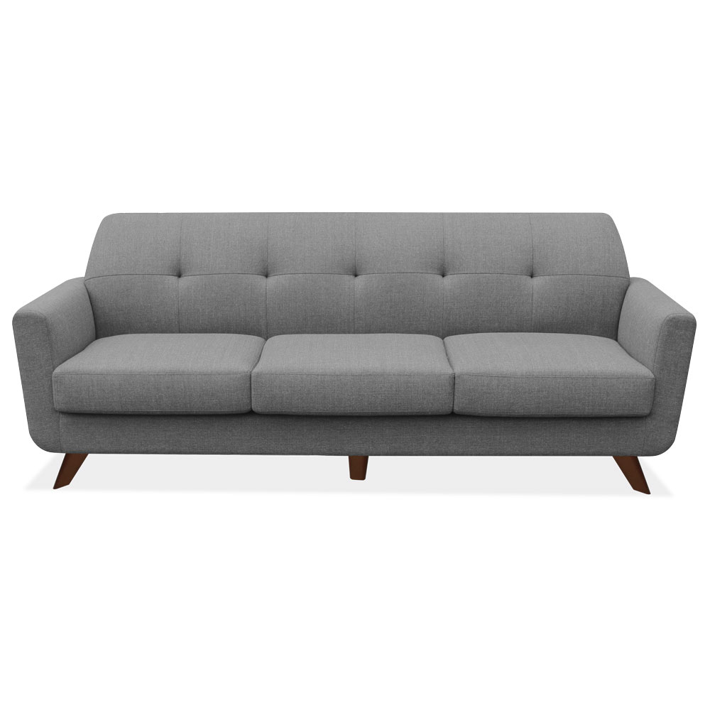 Sofa with Dark Cherry Wood Legs