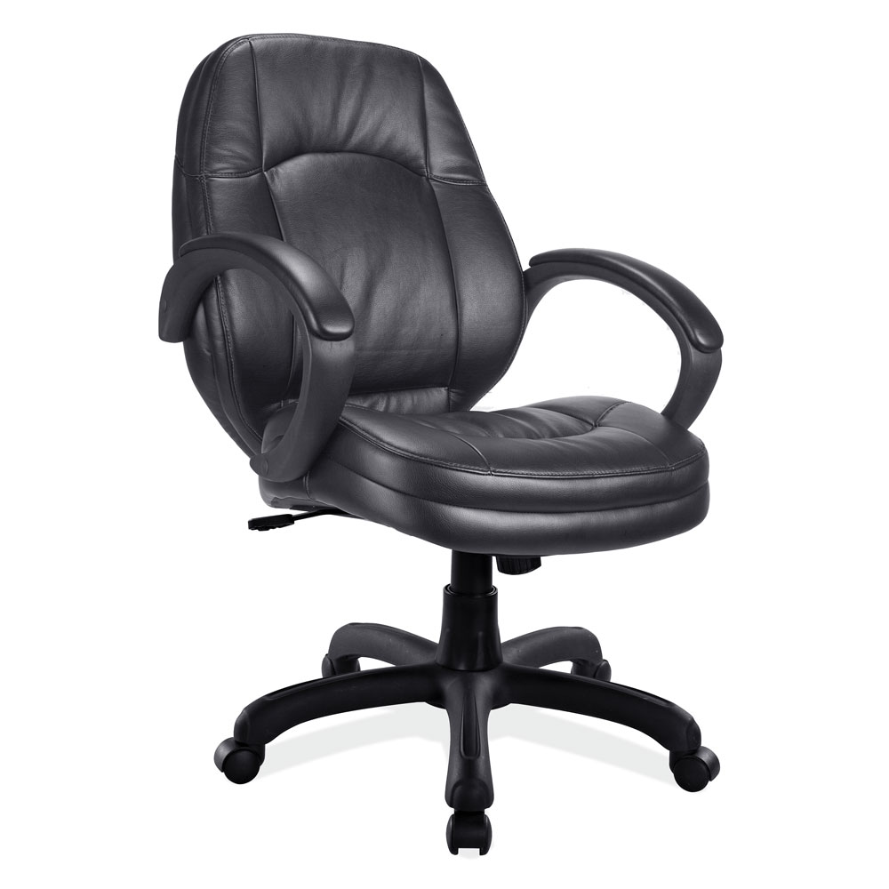 Executive Mid Back Chair with Black Frame