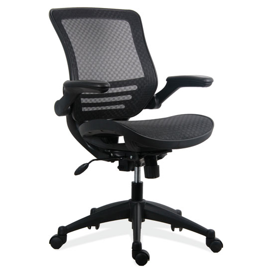 All Mesh Task Chair with Arms and Black Base