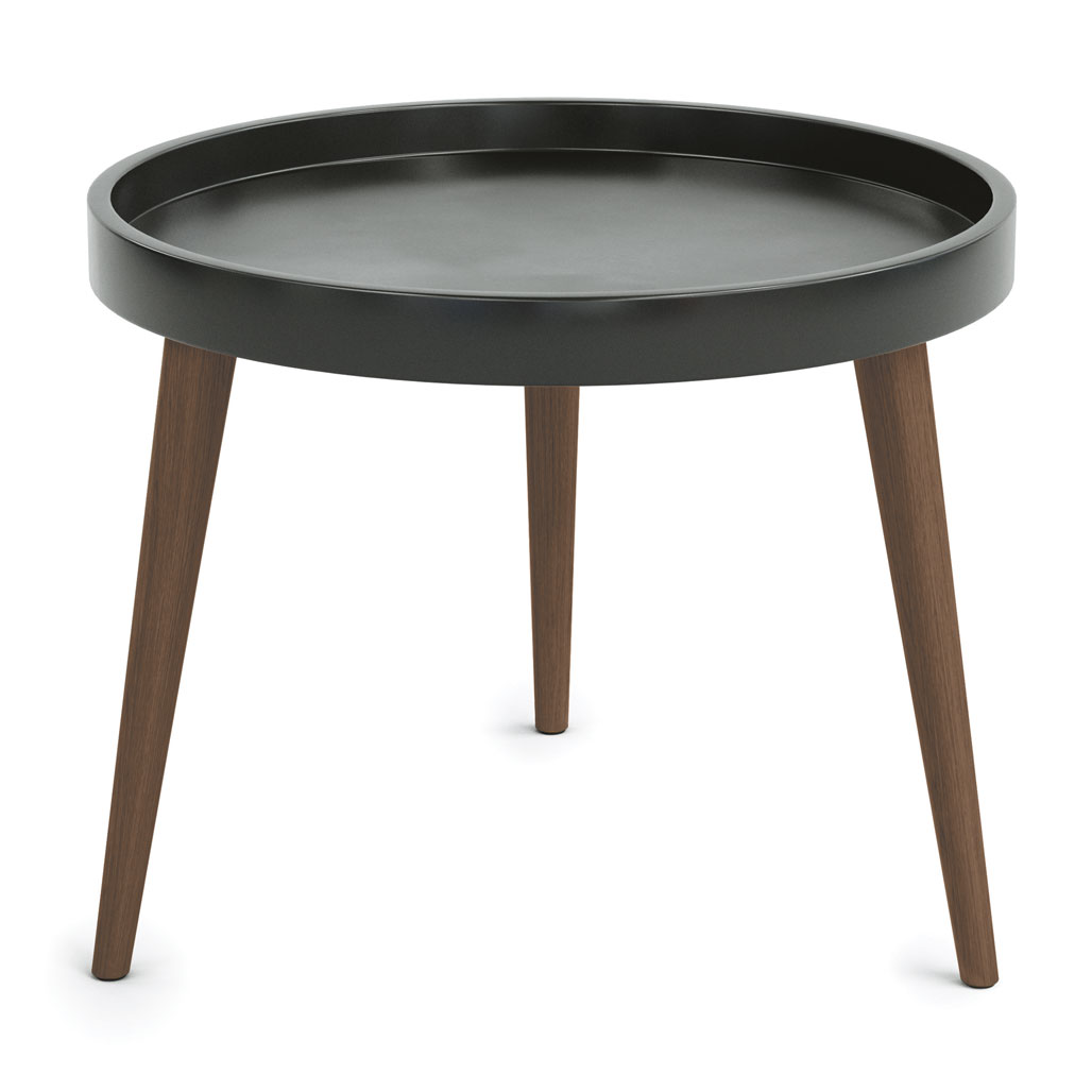 Plastic Round Table Top with 14″ Wood Legs