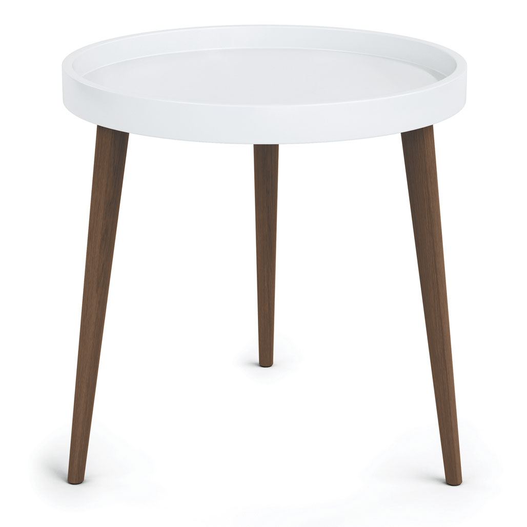 Plastic Round Table Top with 17″ Wood Legs