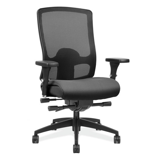 OfficeSource Prius Collection Mesh, Deluxe Task Chair with Black Frame