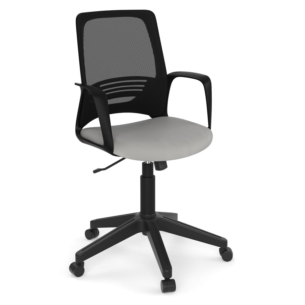 OfficeSource Prisma Collection Mesh Back Task Chair with Black Frame and Base