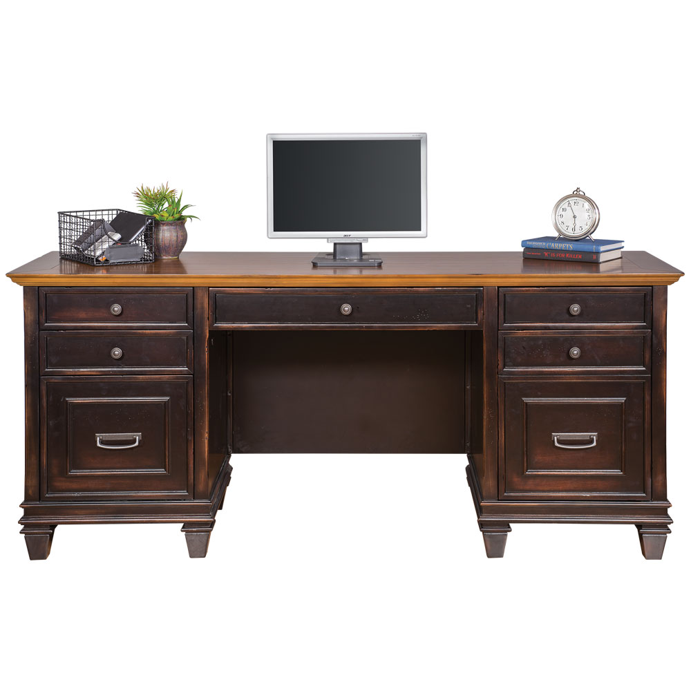 OfficeSource Refined Collection Kneespace Credenza