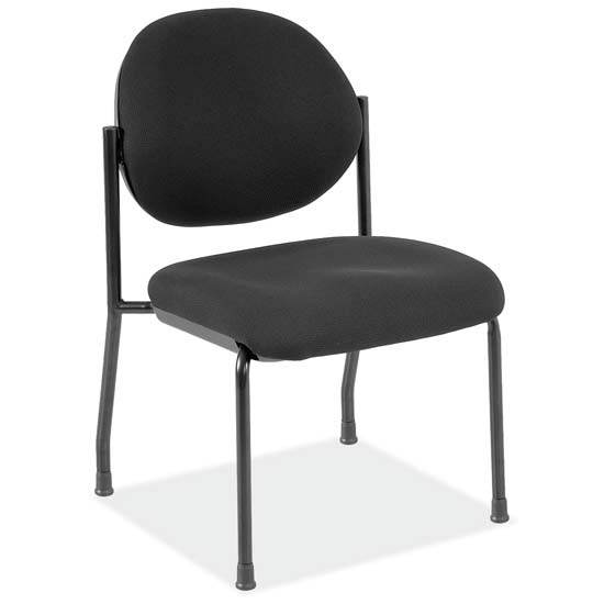 OfficeSource Regal Collection Armless Side Chair with Black Frame