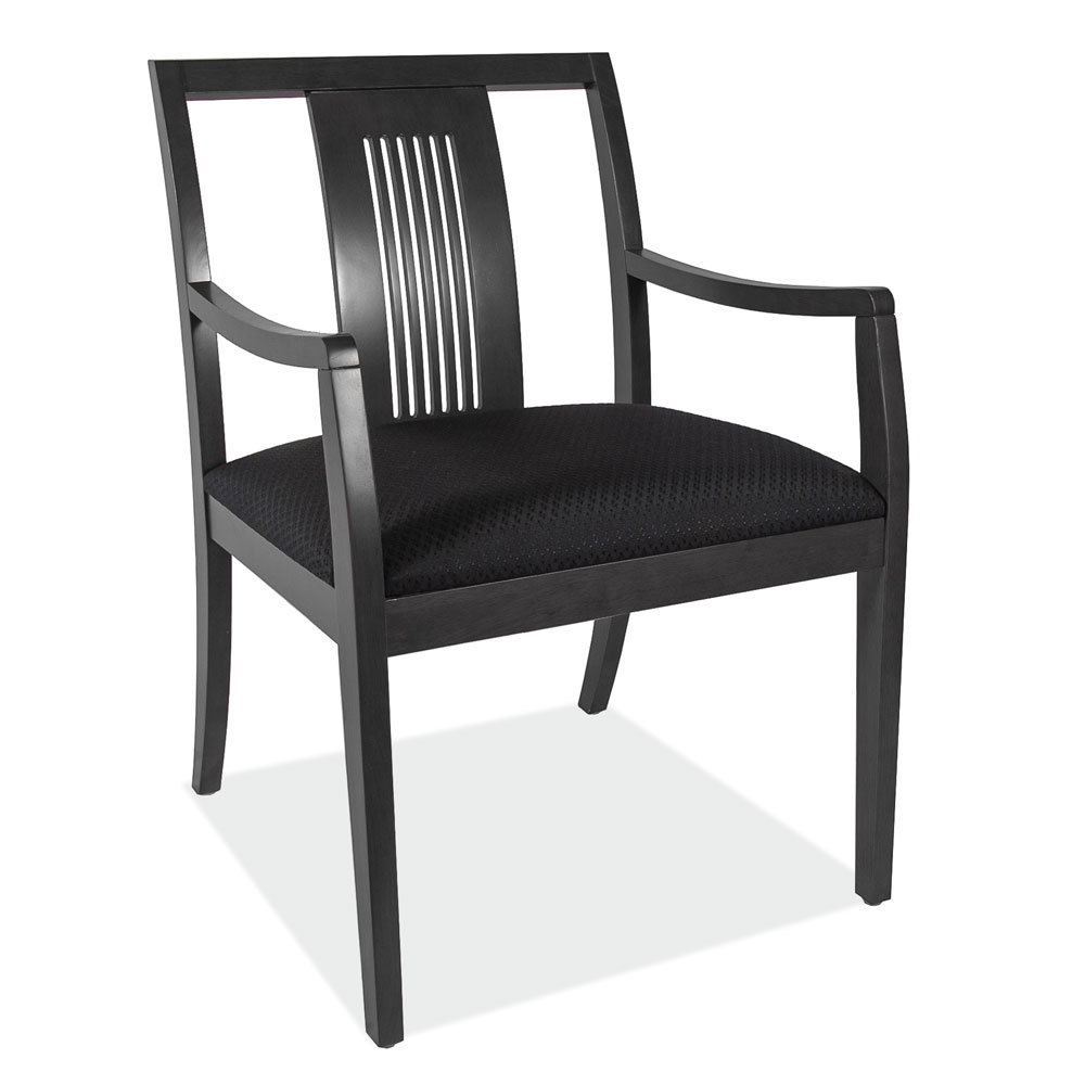 OfficeSource Rex Collection Slat Back Guest Chair