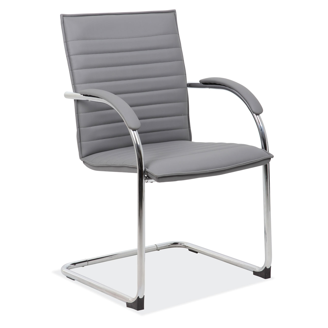Sled Based Guest Chair with Chrome Frame