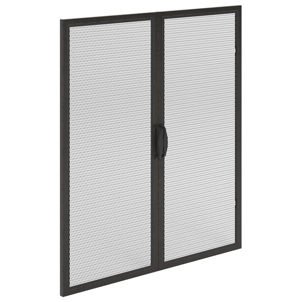 OfficeSource Riveted Collection Optional Mesh Metal Doors – (For HIMB36)