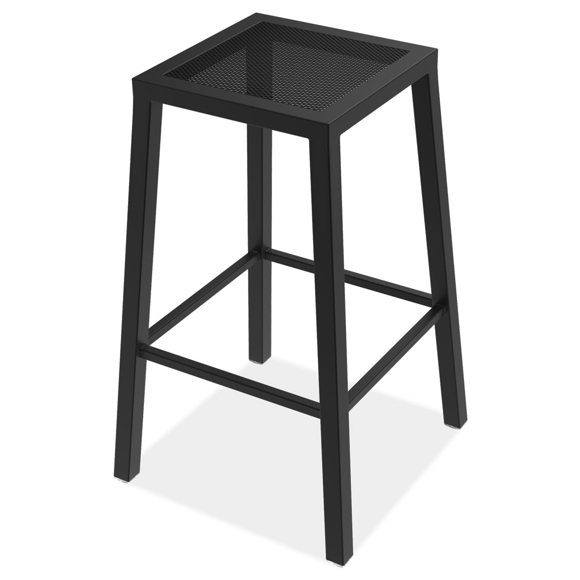 OfficeSource Robust Collection 30″ Outdoor Backless Bar Stool