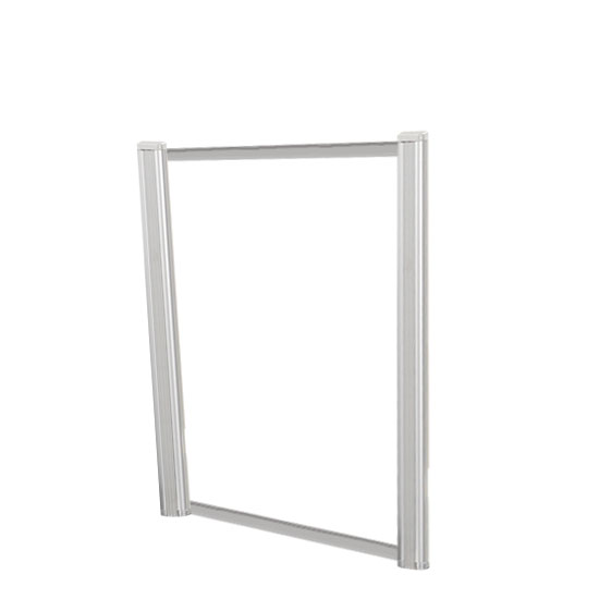 Borders Extended Screen with Clear Glass and No Transaction Space – 30″W – (2 – 24″H Posts Included)