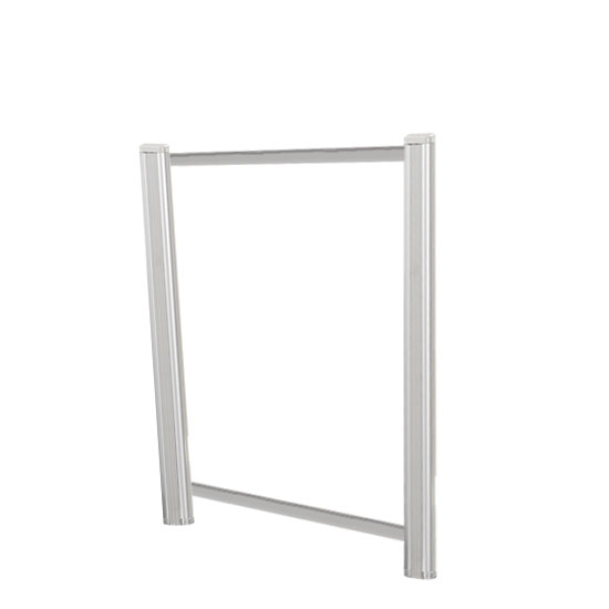 OfficeSource SafeGuard Barrier Collection Borders Extended Screen with Clear Glass and Transaction Space – 30″W – (2 – 24″H Posts Included)