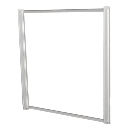 Borders Extended Screen with Clear Glass and No Transaction Space – 48″W – (2 – 36″H Posts Included)