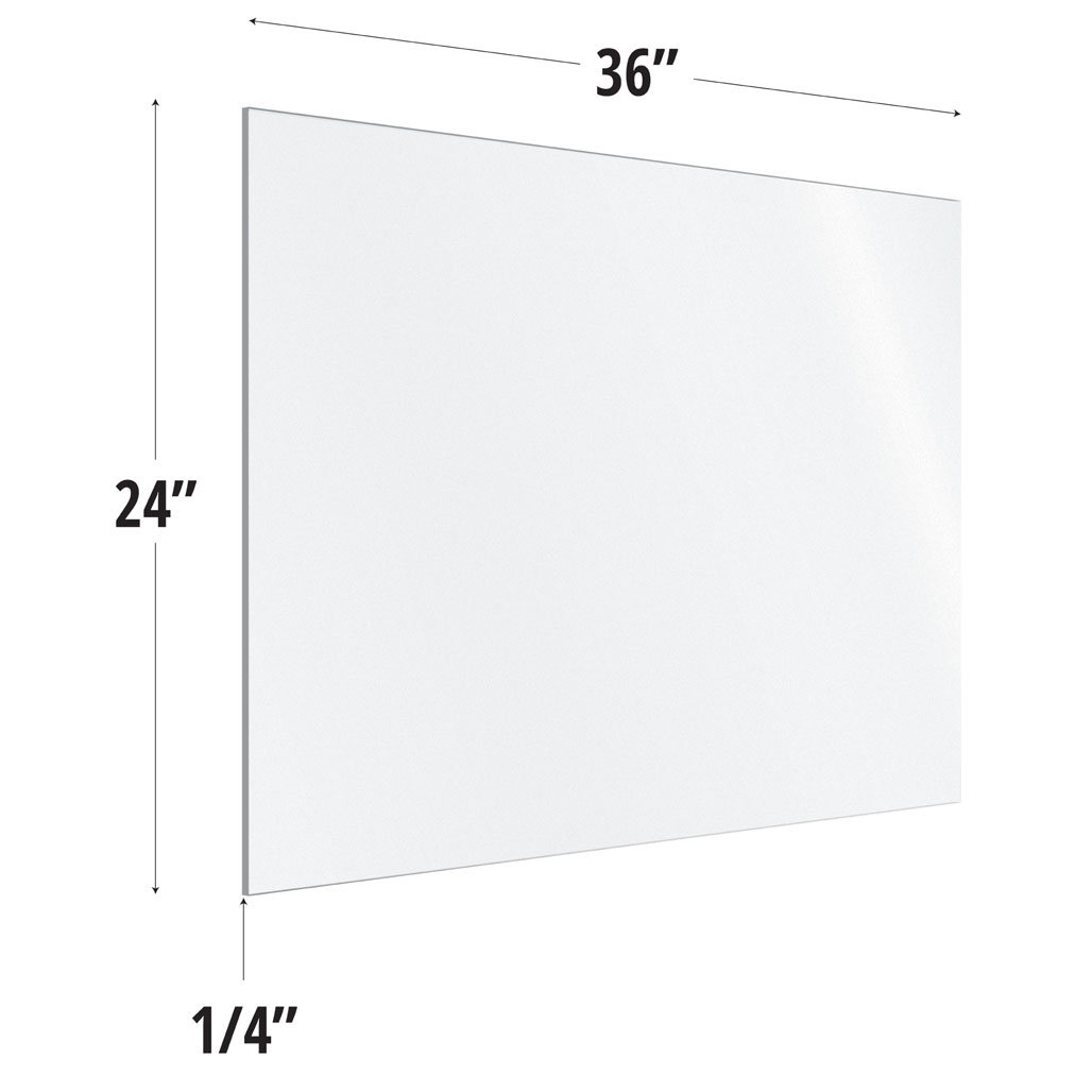 OfficeSource SafeGuard Barrier Collection Frosted Acrylic Screen with Square Edges – 36″W x 24″H