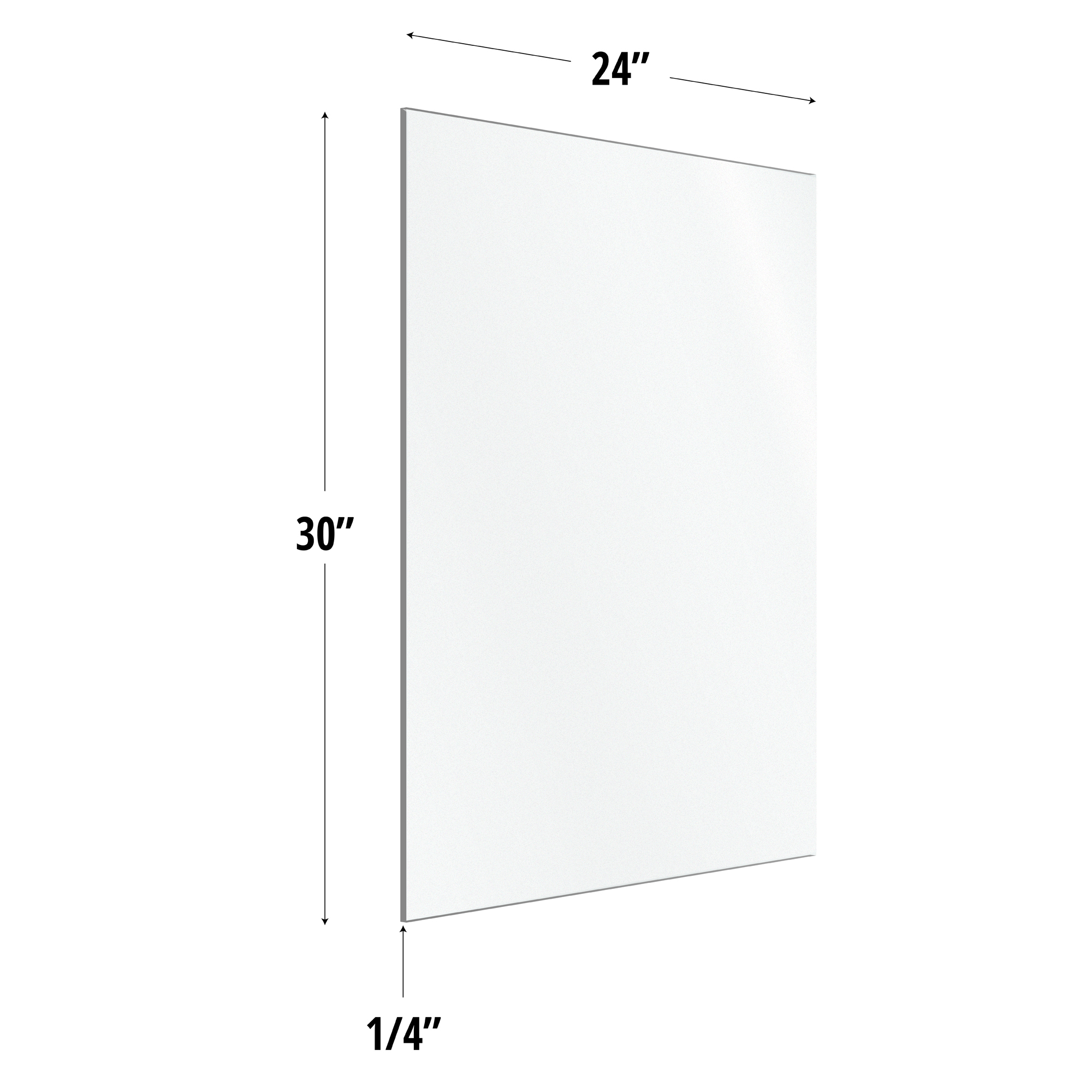 Frosted Acrylic Screen with Square Edges – 24″W x 30″H