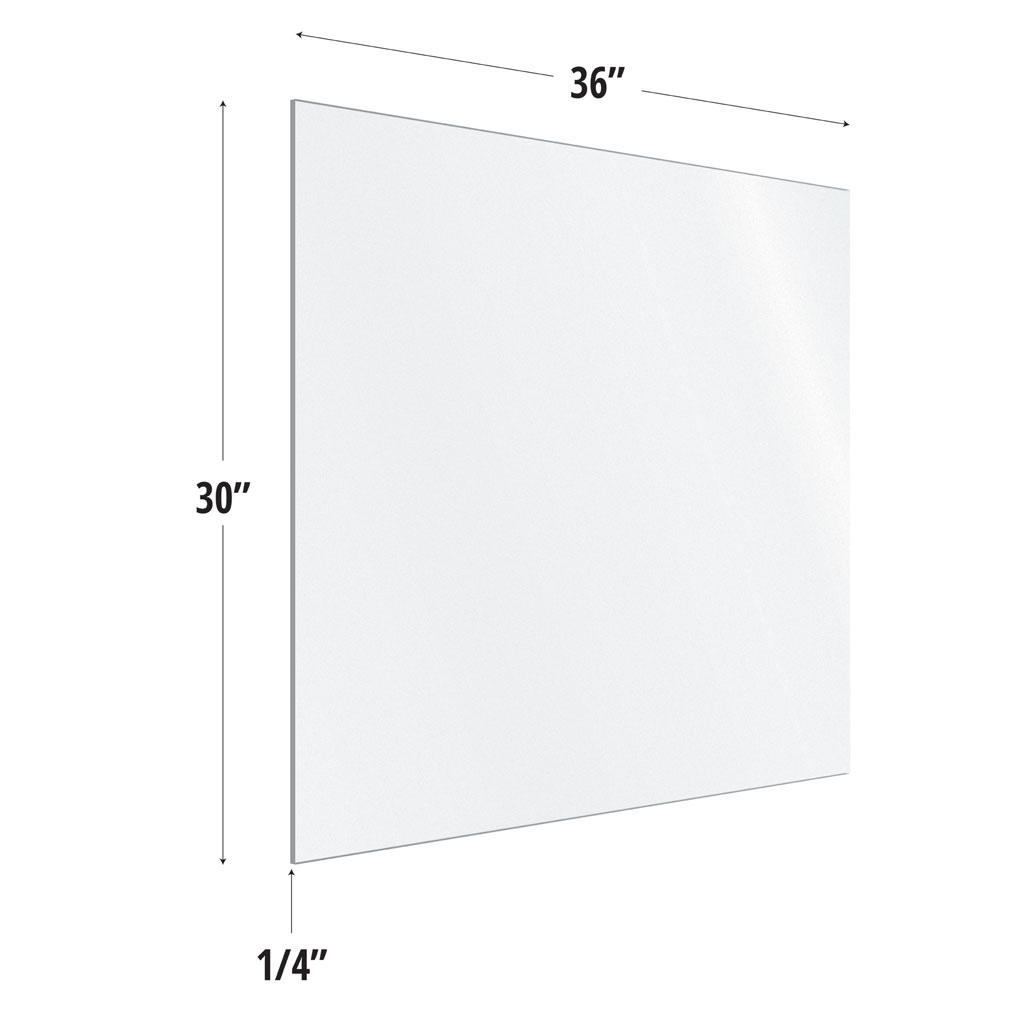 OfficeSource SafeGuard Barrier Collection Frosted Acrylic Screen with Square Edges – 36″W x 30″H