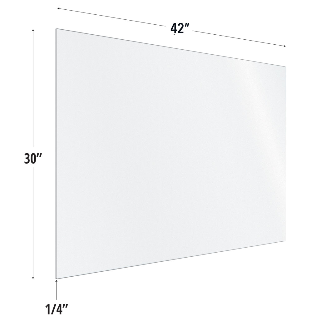 OfficeSource SafeGuard Barrier Collection Frosted Acrylic Screen with Square Edges – 42″W x 30″H