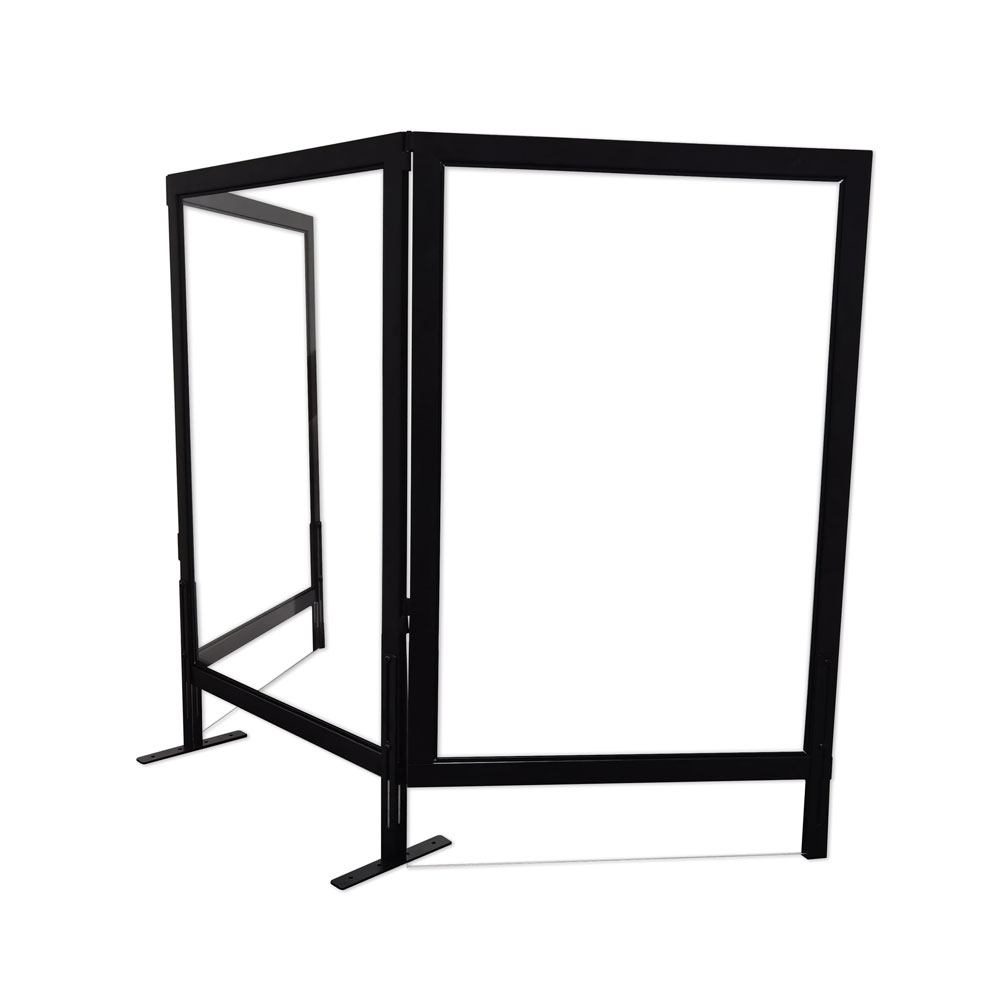 OfficeSource SafeGuard Barrier Collection Optional Clear Acrylic Side Panel with Black Frame