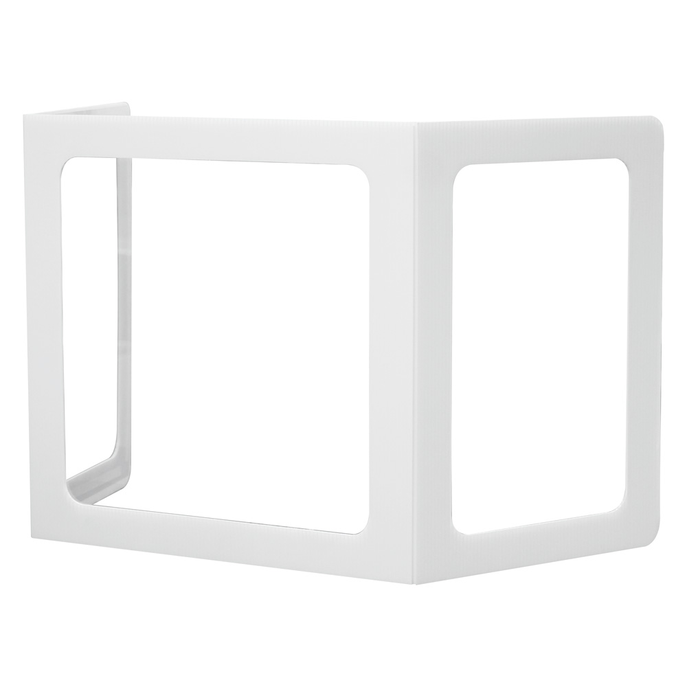 OfficeSource SafeGuard Barrier Collection All Plastic Tri-Fold Screen w/Window and Clear Side Panels – 20″ x 20″ Window
