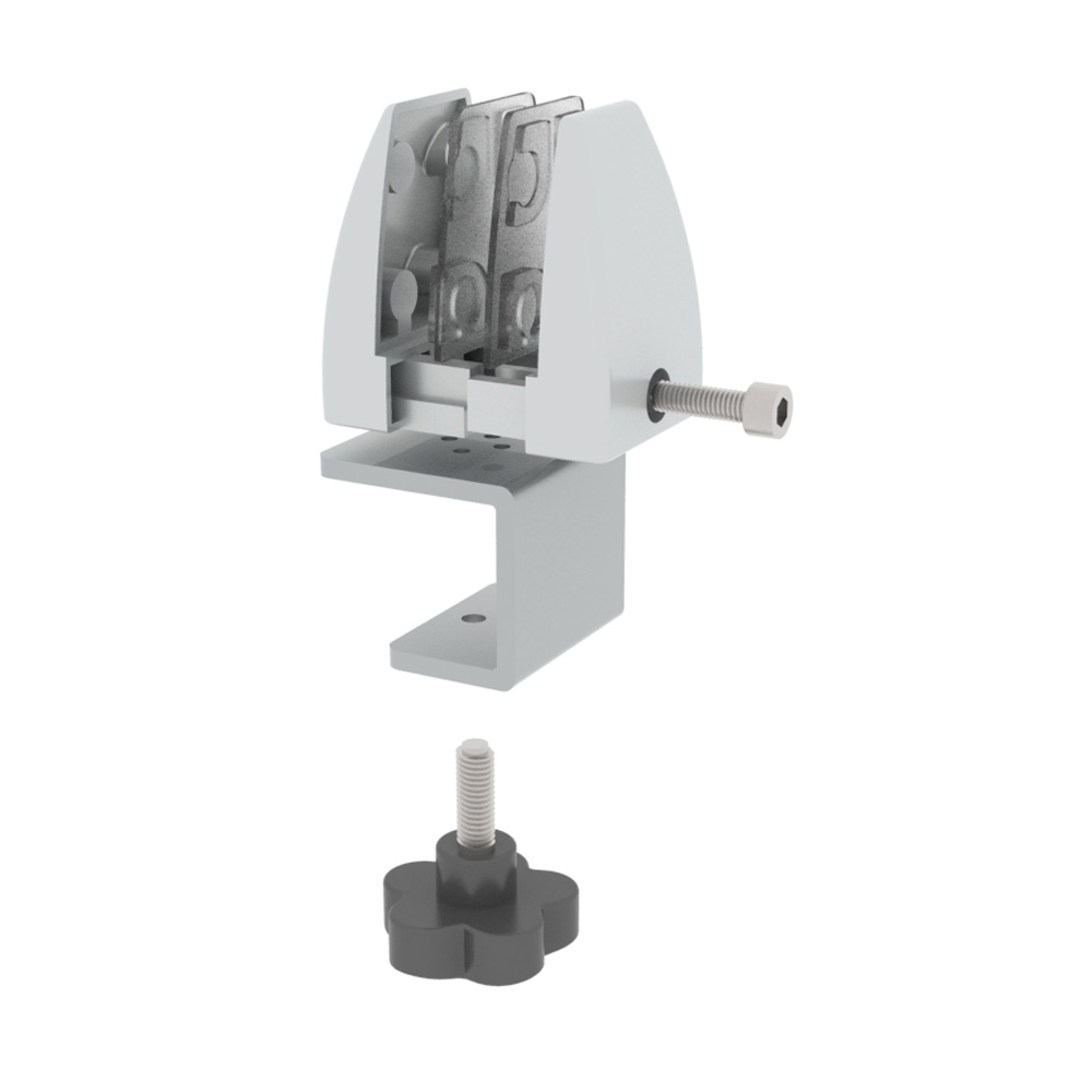 OfficeSource SafeGuard Barrier Collection Work Surface Clamp Bracket – For 1 to 1-1/2″Thick Tops