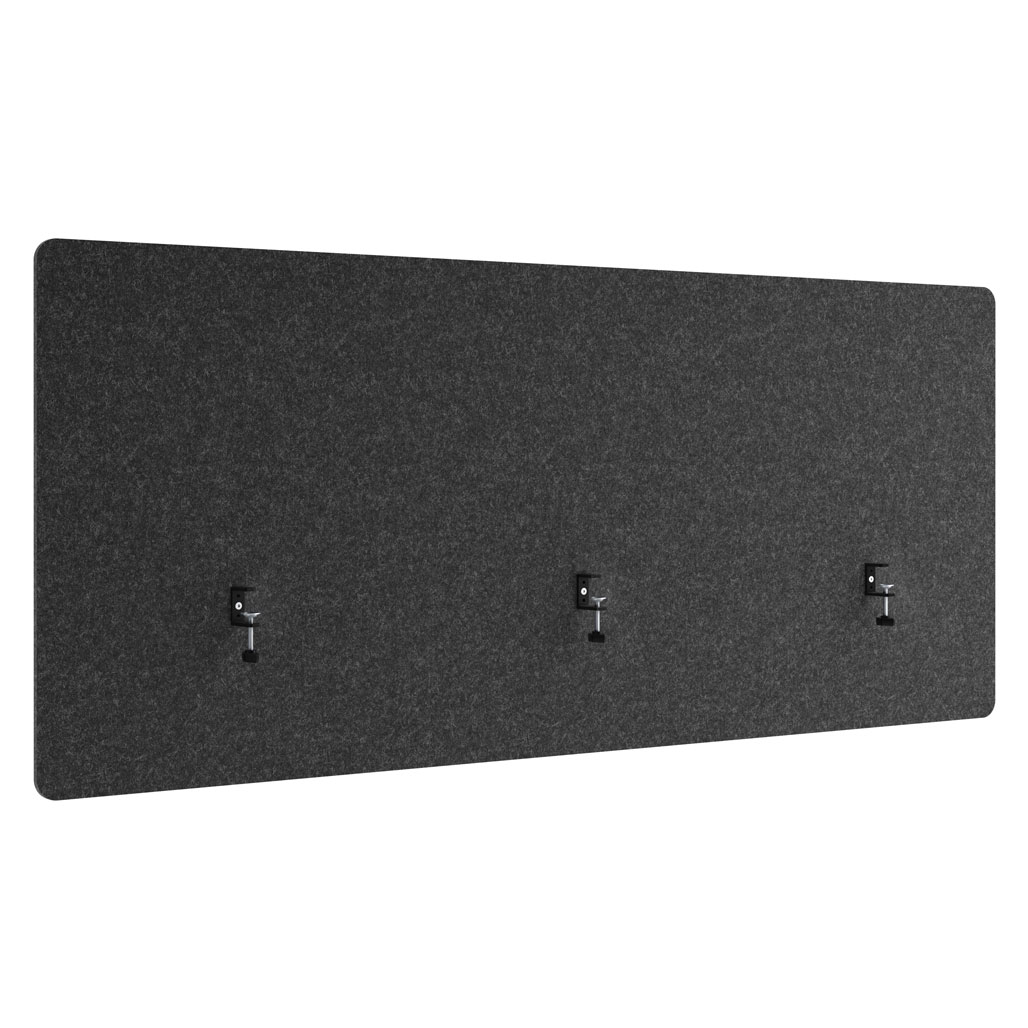 30″ x 72″ Acoustic PET Shield with 2 Black Clamps