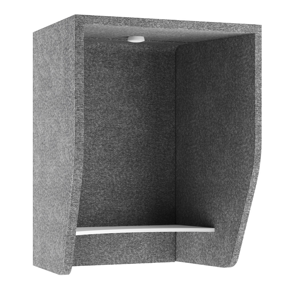 OfficeSource SafeGuard Barrier Collection Wall Mounted Acoustic PET Booth with Work Surface