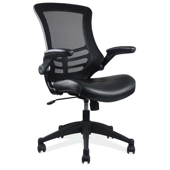 OfficeSource Serene Collection Task Chair with Black Frame