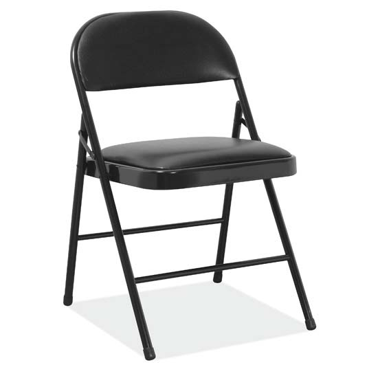 Steel Folding Chair With Padded Seat Back