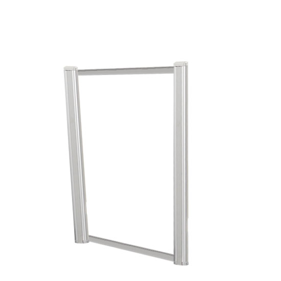 Borders Extended Screen with Clear Glass and No Transaction Space – 24″W – (2 – 24″H Posts Included)