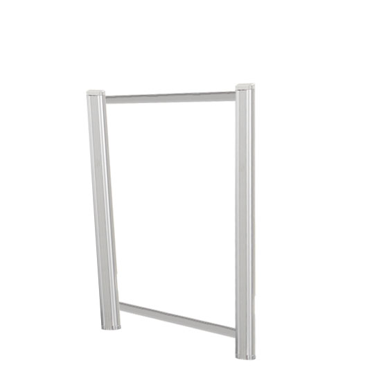 Borders Extended Screen with Clear Glass and Transaction Space – 24″W – (2 – 24″H Posts Included)