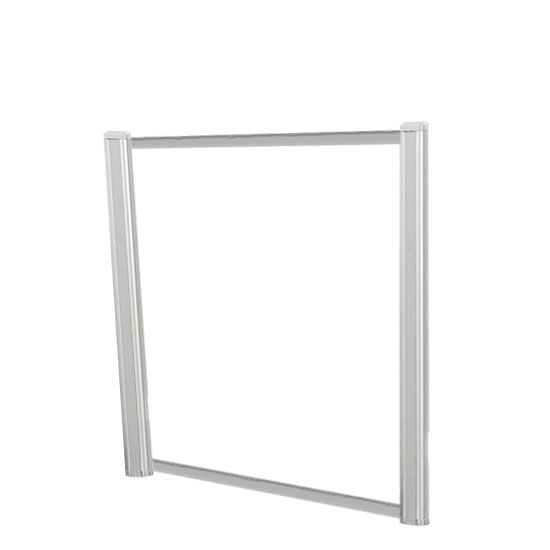 Borders Extended Screen with Clear Glass and No Transaction Space – 36″W – (2 – 24″H Posts Included)