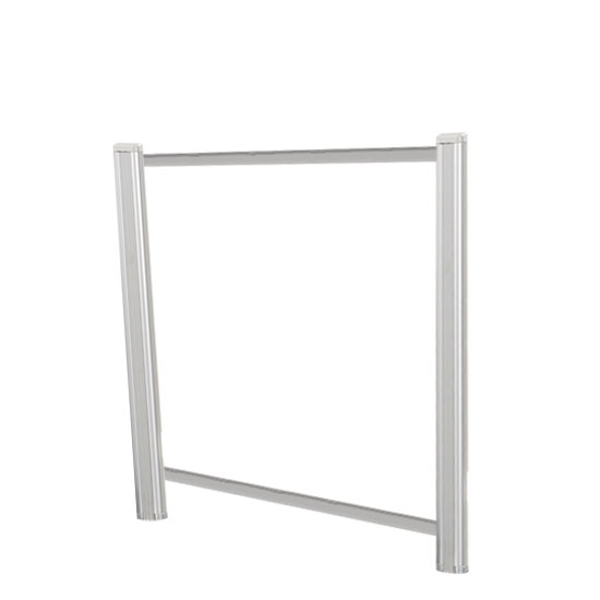 Borders Extended Screen with Clear Glass and Transaction Space – 36″W – (2 – 24″H Posts Included)
